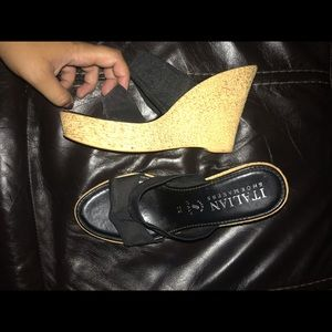 black & tan wedges